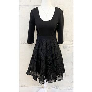 "Tracy Reese ""Eliza"" Black Organza Overlay Dress"
